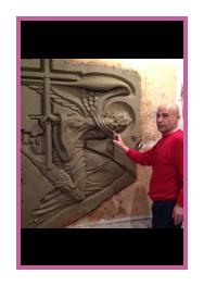 Work on the high relief «Call of Spirit»
