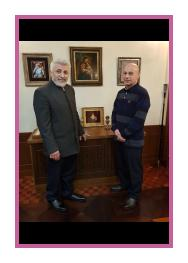 Archbishop Ezras is the head of the Novo-Nakhichevan and Russian Diocese of the Armenian Apostolic Church and sculptor Alexander Samvel. Moscow 2018